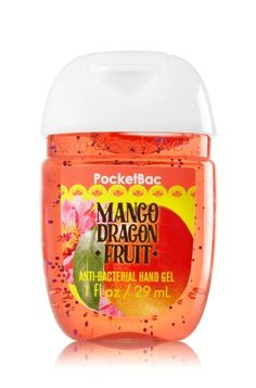 Mango Dragon Fruit - PocketBac Sanitizing Hand Gel - Bath & Body Works - Now with more happy! Our NEW PocketBac is perfectly shaped for pockets & purses, making it easy to kill 99.9% of germs when you're on-the-go! New, skin-softening formula conditions with Aloe & Vitamin E to leave your hands feeling soft and clean.