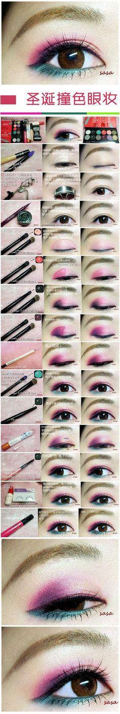 Chinese makeup tutorial using bright Sleek palettes