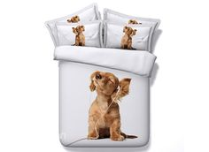 Music dog pet cartoon printed bedding set sheet queen king size more bedclothes comforter kids bed cover sets King Size Duvet Covers, White Duvet Covers, Bed Duvet Covers, Duvet Cover Sets, 3d Bedding Sets, Comforter Sets, Linen Bedding, Unique Bedding, White Bedding