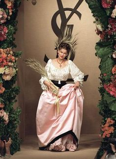 Yves Saint Laurent's muse Laetitia Casta on the runway in 1999 - Fashion remembers Yves Saint Laurent: the iconic designer's life in picture...