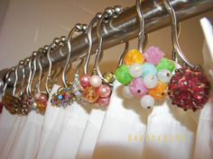 vintage jewerly for the shower curtain