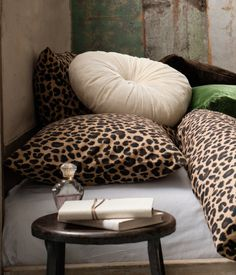 Leopard pillows and more pillows, pillows, pillows, pillows!