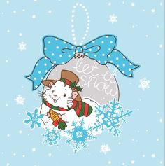 Snowman Christmas Guineapig Square Holiday Greeting Card  Guinea Pig Christmas Card.  Let it snow