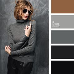 brown, dark grey, leather, leather pants, light grey, mouse grey, pastel shades of grey, sweater.