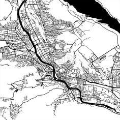 Tbilisi Georgia Vector Map by Hebstreit #drawing #sketch #travel #pen #download #digital #vector #art #stockimage #hebstreit