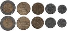 Set of Finnish Markka coins