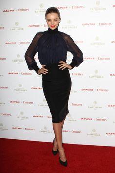 Miranda Kerr attends Qantas Gala Dinner at Sydney Airport. | Miranda Kerr style file gallery - Vogue Australia