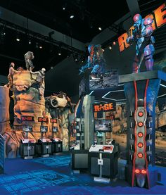 Bethesda Softworks booth at Electronic Entertainment Expo (E3): 7,400 sf; 8x15 LCDs; 3D models;