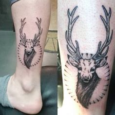 Ciervo - Deer tattoo, dotwork, occult, esoteric, mystic.