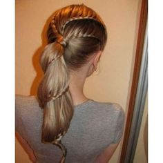 Cute Hairstyles for School Girls 2013, Hair Trends for Girls ❤ liked on Polyvore