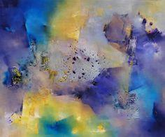 """""""Pájaros de fuego"""" - Nicolas Federici - Técnica mixta - 90 x 120 cm www. esencialismo.com"""