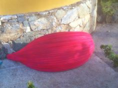 Love the colours we painted  our Cohune (Palm) Boats!!