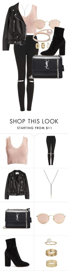 """Untitled #4257"" by olivia-mr ❤ liked on Polyvore featuring Sans Souci, Topshop, Acne Studios, Melissa Joy Manning, Yves Saint Laurent, Ray-Ban, Valentino and Miss Selfridge"