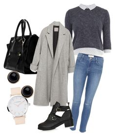 """""""Untitled #144"""" by eugnie on Polyvore featuring Dorothy Perkins, Zara, Frame Denim, Topshop and Adele Marie"""