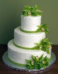 pastel con diseño natural