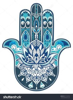 Vector Indian Hand Drawn Hamsa Symbol - 374146762 : Shutterstock: