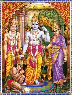 Items similar to Print Lord Rama Sita and Hunuman from Vintage artwork, NO FRAME on Etsy Ram Navami Images, Shree Ram Images, Ram Photos, Lord Sri Rama, Shri Ram Photo, Shri Ram Wallpaper, Indiana, Happy Ram Navami, Rama Sita