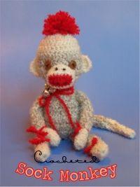 Free Crocheted Sock Monkey Pattern