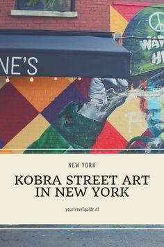 Kobra Street art spotten in New York. Waar vind je de muurschilderingen van Eduardo Kobra in New York Kobra Street Art, New York Travel Guide, Usa Cities, Ellis Island, Ziggy Stardust, Ultimate Travel, Solo Travel, Mount Rushmore, Travel Inspiration