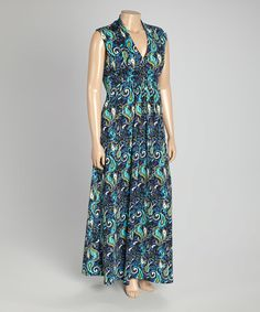 Love this Blue Paisley Sleeveless Maxi Dress - Plus on #zulily! #zulilyfinds