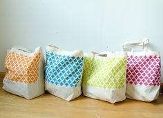 DIY Stenciled Shopper #happinessiscreating