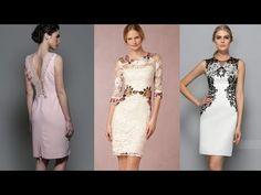 2cab56a56 VESTIDOS DE CÓCTEL CORTOS vestidos elegantes cortos para bodas y  celebraciones. YouTube