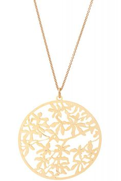 David Aubrey Halskette Lasercut Blume - vergoldet. www.styleserver.de