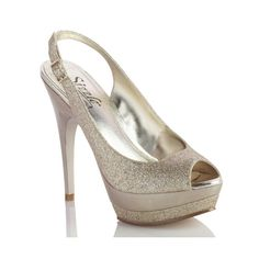 Sizzle by Coloriffics Andes Glitter peep-toe high heel shoes
