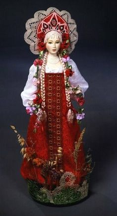 Doll in Russian costume.