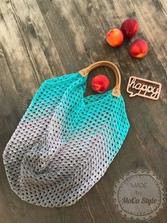 Crochet shopping bag XXL in Granny Style - Handarbeit - Bolsas Knitting Websites, Knitting Blogs, Granny Style, Cordon En Cuir, Knitting Patterns, Crochet Patterns, Crochet Mermaid Tail, Hobbies For Women, Crochet Headband Pattern