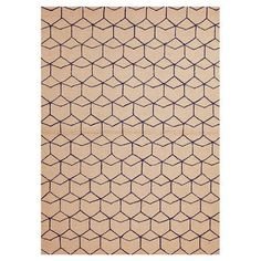 An interesting geo pattern that would be easy to brighten up with other accent pieces like pillows, blankets - less of a show stopper - it's more about the pattern than the color.