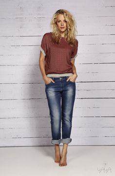 YAYA SPRING/SUMMER 2014 Summer 2014, Spring Summer, Jean Outfits, Bermuda Shorts, Outfit Ideas, My Style, Jeans, How To Wear, Women