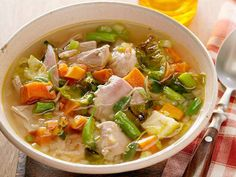 Next Day Turkey Soup #healthy #recipes
