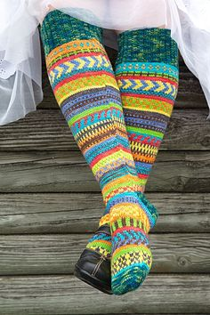 Ravelry: Rock the Party knee socks pattern by Trisha Paetsch