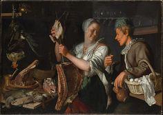 Kitchen Scene Artist: Peter Wtewael (Dutch, Utrecht 1596–1660 Utrecht) Date: 1620s Medium: Oil on canvas Dimensions: 44 3/4 x 63 in. (113.7 x 160 cm) Classification: Paintings Credit Line: Rogers Fund, 1906 Accession Number: 06.288