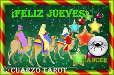 Cáncer Jueves 05 de Enero, 2017  CÁNCER #FelizJueves, no olvides leer algunos rituales para esta Noche de Reyes en: https://www.cuarzotarot.es/navidad/los-reyes-magos. Día positivo si consigues equilibrarte y no tener tanta ansiedad, por lo que si tiene solución, ya se solucionara.