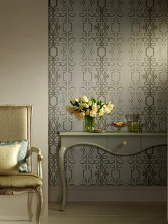 Scroll wallcovering, from the Compendium collection, by Blendworth. #Designer…