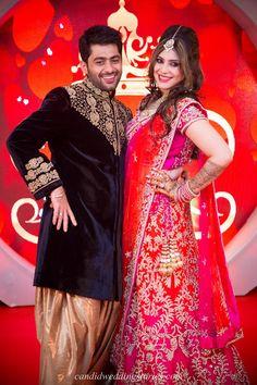 destination Goa wedding- beautiful couple at their Bollywood themed destination Goa wedding