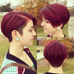 Undercut pixie #customhairbytracey #customcolor... - go shorter
