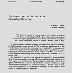 The Concept of the Operant in the Analysis of Behavior