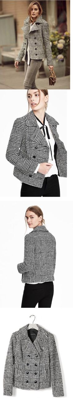 Women Coats And Jackets: Banana Republic $178 Nwts Women S Wool Double Breasted Jacket Coat 0 10 14 Tall -> BUY IT NOW ONLY: $129.99 on eBay!