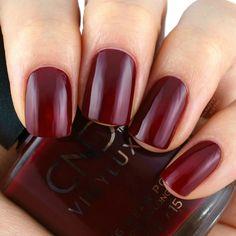 Cherry Apple Cnd Shellac Colors, Shellac Nails, Nail Colors, My Nails, Red Polish, Nail Polish, Oxblood Nails, Cherry Apple, Cnd Vinylux