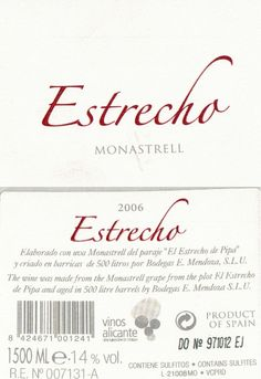 Monastrell  A wine that is born with good character, elegant, mineral...Tasting notes: Ruby-red. Clean and bright Ripe Aroma of red fruit, with notes of wood well assembled, balsamic, lowland forest and smoked.Aged for 14 months in new French oak barrels.Graduation:14.0 %Optimum serving temperature:Between 16ºc and 18ºc