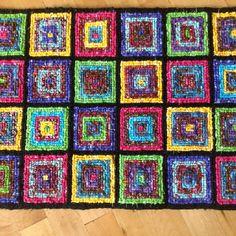 Locker hooked rug!