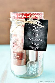 ADORABLE Pedi in a Jar Gift Idea - perfect for Christmas!
