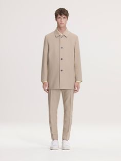 COS revisits its clean aesthetic with minor updates for its spring-summer 2016 menswear collection. Tailoring is front and center for the season with a relaxed reigning attitude. Dressed in neutral hues, the brand's most recent range achieves a smart sensibility with precise lines and a confident ease. While timeless car coats are modernized with a...[ReadMore]