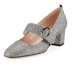 SJP by Sarah Jessica Parker Tartt Sparkly Mary Jane Pump, Black/Silver Black Mary Jane Shoes, Mary Jane Pumps, Sarah Jessica Parker Shoes, Sparkly Pumps, Glitter Heels, Black Leather Shoes, Leather Pumps, Black Pumps, Black Shoes
