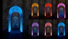 Viaduto Chaumont, em Haute-Marme, na França. Um projeto de design de iluminação tornou o viaduto um ponto turístico. Mais de 400 lâmpadas LED foram utilizadas no projeto, que mostra uma iluminação diferente de dia e de noite. Cada dia da semana o espetáculo é modificado. No final da semana um mix das apresentações ao longo da semana é realizado.