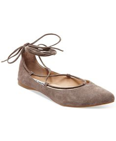 d02e547ed2ec Steve Madden Eleanorr Suede Lace-Up Flats - Flats - Shoes - Macy s Lace Up