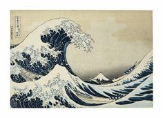 Katsushika Hokusai, Kanagawa oki nami ura (In the well of the great wave off Kanagawa), from the series Fugaku sanjurokkei (The thirty-six views of Mount Fuji), 24.5 x 36.5 cm.